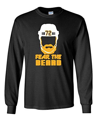 "The Silo LONG SLEEVE BLACK Pittsburgh Hörnqvist ""Fear The Beard"" T-Shirt ADULT"