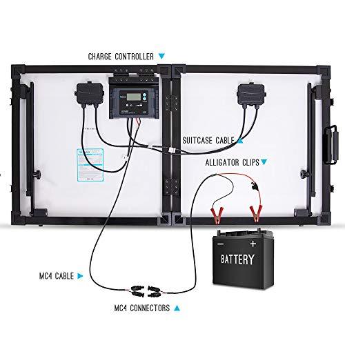 Renogy 100 Watt Eclipse Monocrystalline Charge 20A Voyager Waterproof Controller Solar Suitcase, 100W-Waterproof by Renogy (Image #5)