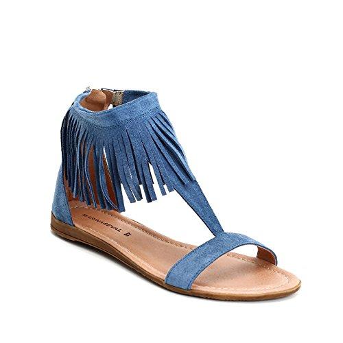 Scarpe amp;Scarpe Seval Azul Bassi Sandali Donna Marina CwTfOqAB