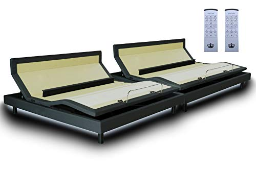 DynastyMattress New DM9000s -Top of The Line Adjustable Bed Base-Wireless Remote-Dual Massage-Bluetooth- Head Tilt-Audio Music-Lumbar Support