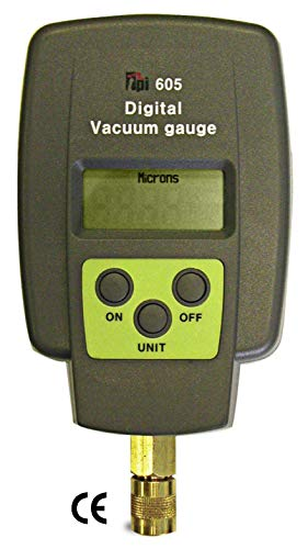 10 Micron Gauge - TPI 605 Single Input Digital Vacuum Gauge, 5 Digit LCD, +/-10 percent Accuracy, 1 micron Resolution, 12000 to 15 micron Range