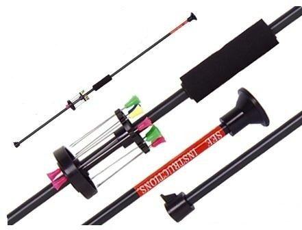 Zerlegbares G8DS® Sport ALU Präzisions Blasrohr +12 Dart Pfeile 75cm