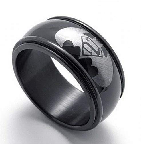 - Endicot Plump Men Women Stainless Steel Titanium Band Ring Batman Logo Wedding Size 6-13 | Model RNG - 18592 | 13