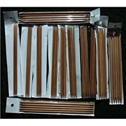 "12 Sizes BrilliantKnitting (BR Brand) 10"" Double Pointed (DP) Bamboo Knitting Needles US 0-10.5. Total 60 Needles"