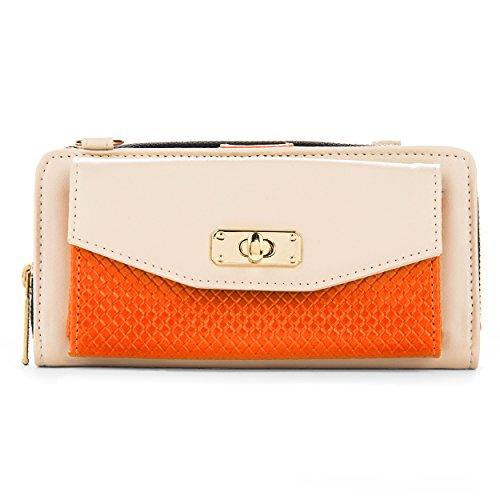 Explorer Zip Clutch - Vangoddy Women's Bag Zip Wallet Clutch [Credit Card Slots] [Organizer] [Strap] For HTC Desire | One | Hero | ChaCha | Evo | Explorer | + More…