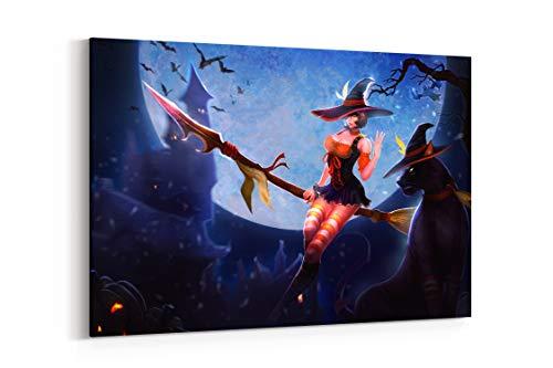 Brujas Halloween Murcielagos Noche - Canvas Wall Art Gallery Wrapped 26
