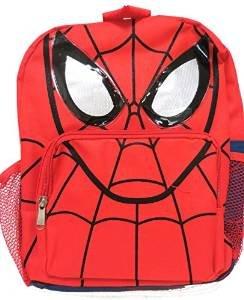 """Marvel Spiderman Spider Man Face Kids Backpack 12"""" primary"""