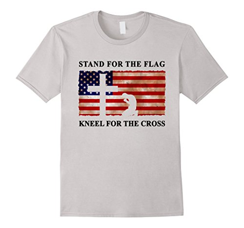 Stand-For-The-Flag-Kneel-For-The-Cross-T-Shirt-Trump-Tee-USA