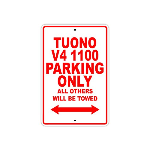 Tuoni the best amazon price in savemoney aprilia tuono v4 1100 parking only towed motorcycle bike chopper aluminum sign fandeluxe Image collections