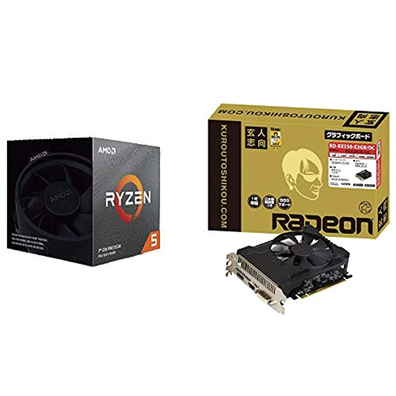AMD Ryzen 5 3600X with Wraith Spire cooler 3.8GHz 6코어 / 12스레드 35MB 95W + 전문가 지향 NVIDIA GeForce GT 710 탑재 그래픽 보드 1GB