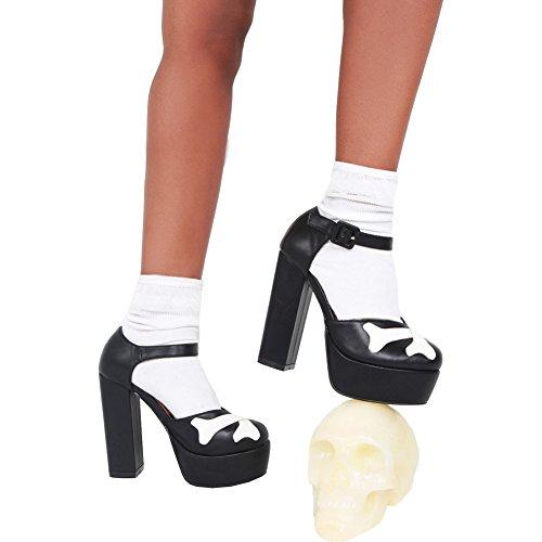 Iron Fist Womens Hey You Guys Platform Heel Black