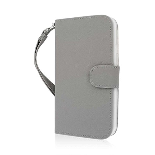 "MPERO FLEX FLIP Wallet Case Étui Coque pour Apple iPhone 6 Plus 5.5"" - Gris"