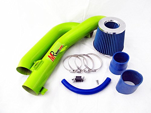 07 08 09 10 Scion tC 2.4L VVTi L4 Green Piping Cold Air Intake System Kit with Blue Filter by Monoka Racing (Image #1)