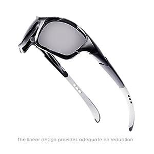 Hulislem Blade Sport Polarized Sunglasses, Smoke - Matte Black