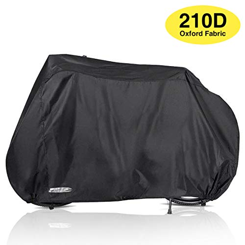 Audew Bike Cover Outdoor Waterproof Bicycle Cover with Lock Holes Windproof Dustproof UV Resistant for Mountain Bike Road Bike
