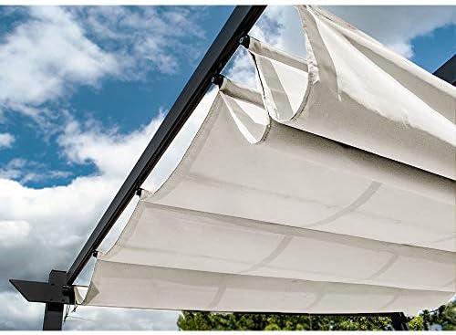 ALEKO 9 x 9 pies aluminio Celosía de uva Pergola al aire libre ...