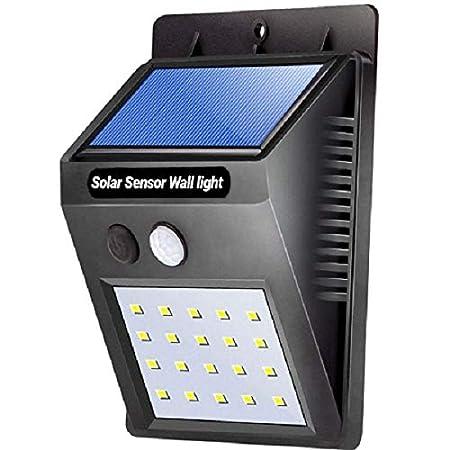ShoppoZone Weatherproof Wireless Security Solar Motion Sensor LED Wall Light (Multicolour)