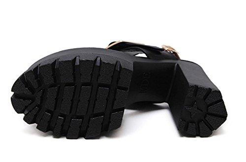 Sandalias Tobillo Las Las Black SeñOras Plataforma Correa De Nuevas De Partido Alto La del TamañO La De Kitzen De De del Las TalóN Los Mujeres Negra De Zapatos TamañO del Tnq4xHY