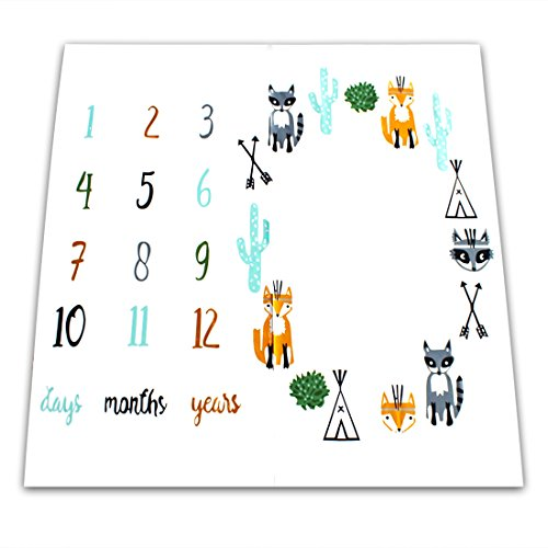 NinkyNonk Cute Woodland Animals Printed Baby Monthly Milesto