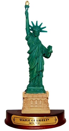 Statue of Liberty 3-D Magnet Wood Base, New York Souvenirs, Fridge Magnets, NY Magnet (Magnet York New Refrigerator)