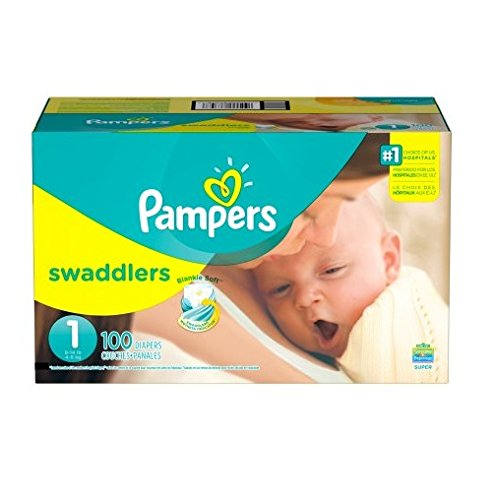Pampers Swaddlers Disposable Diapers Newborn Size 1 (8-14 lb) - 216 Count - ECONOMY PACK PLUS