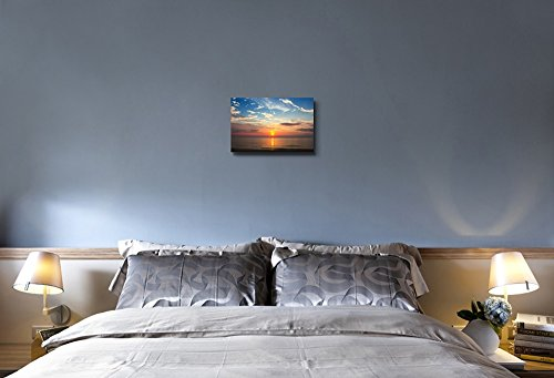 Beautiful Scenery Seascape Sunset on The Beach Wall Decor