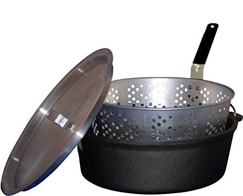 King Kooker CIFFB 6-Quart Cast-Iron Dutch Oven with Aluminum