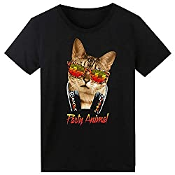 Cat T-Shirt Sound Activated Glow Light up Equalizer