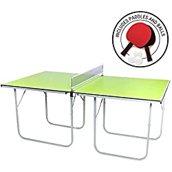 Milliard Mini-Pong Portable Tennis Table - 40 x 70 inches - Includes Net, Paddles, and Balls