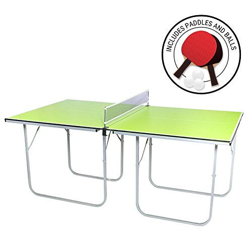 Midsize Ping Pong Table, 40 X 70 Inches, Includes Net, Paddles And Balls