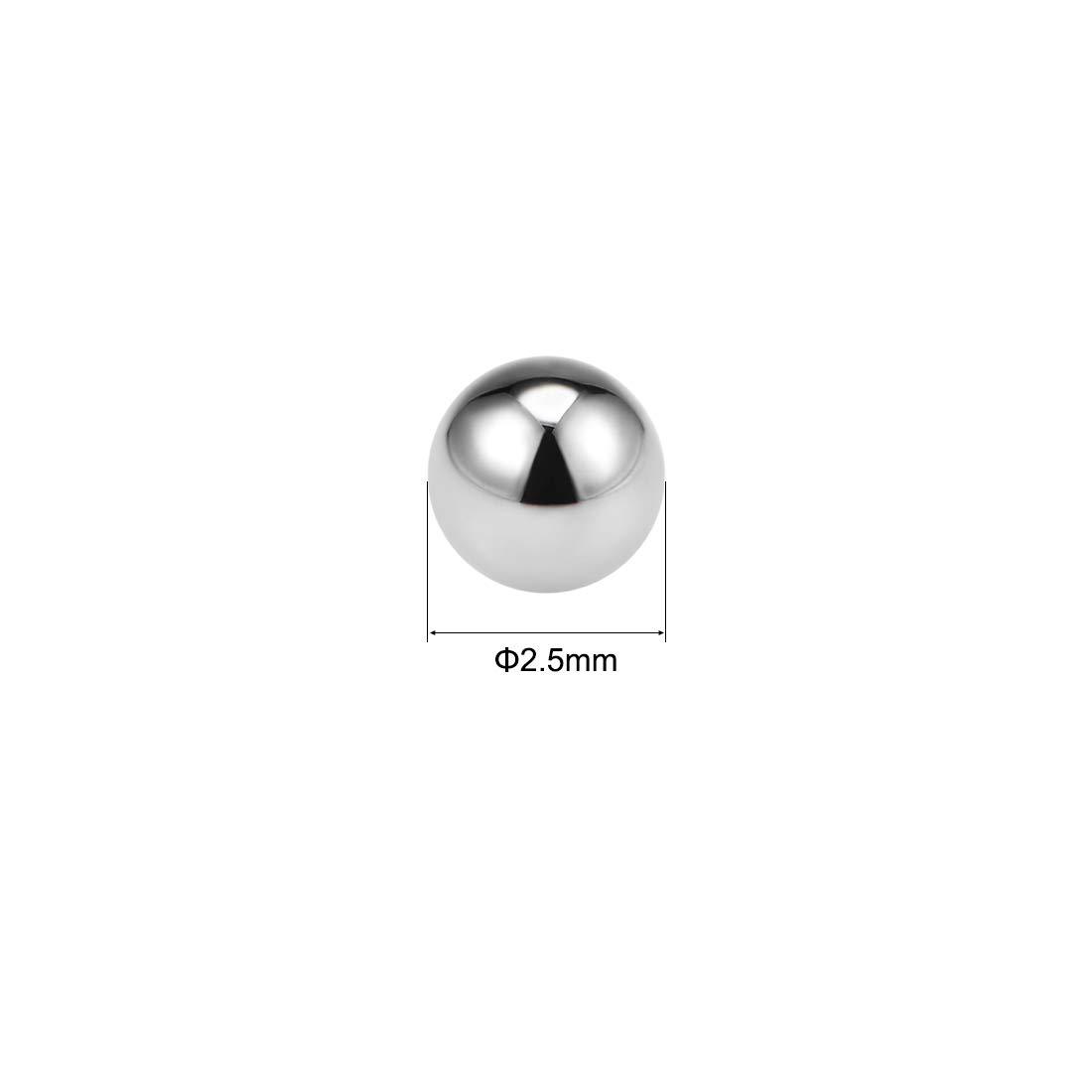 sourcing map 2.5mm Solide Roulement Billes Acier Chrom/é G10 Pr/écision Billes 20Pcs GCr15
