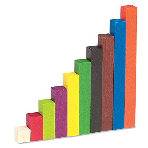Learning Resources Cuisenaire Rods Small Group Set: 155 Piece Wood Set