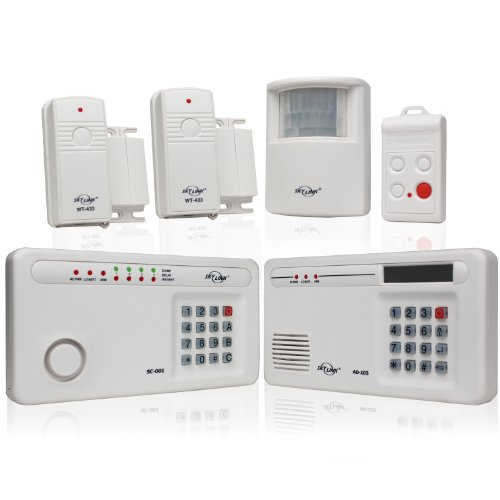 Skylink SC-1000W Complete Wireless Home & Office Burglar Alarm Alert Safety Security System with External Emergency Dialer | Affordable, Easy to Install (Wireless Security Console)