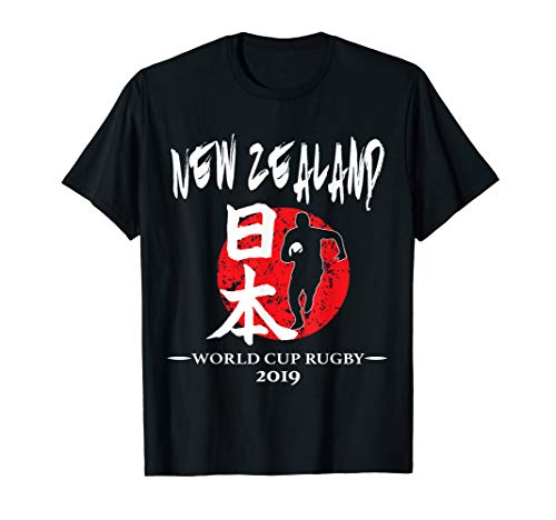 Rugby World Cup T-shirts - New Zealand Rugby Flag T Shirt Distressed TShirt Gift