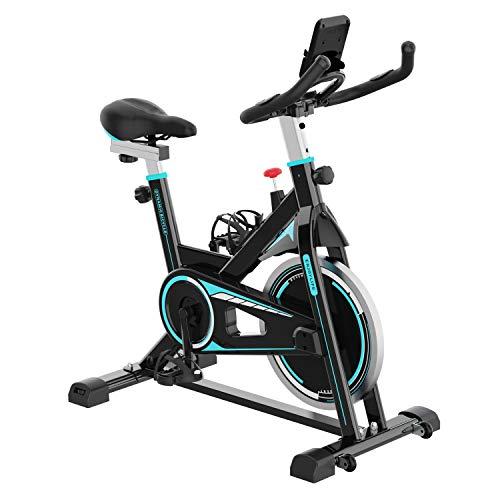 🥇 2WD Bicicletas Estáticas Resistencia Ajustable con Pantalla LCD y Monitor de Frecuencia Cardíaca