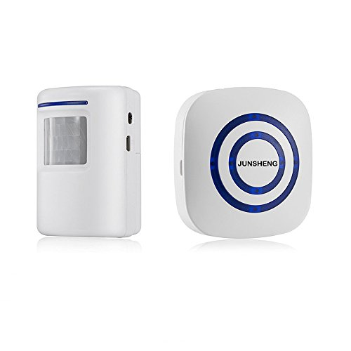 Portable Wireless Home Security Driveway Alarm, Battery Operated PIR Motion  Sensor Detector And Pluged In Receiver Patrol Infrared Alert System