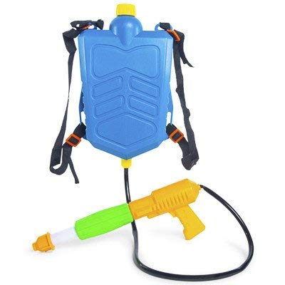 Water Gun With Backpack (high five New Squirt Gun Water Toy mega Drench Tank Backpack Water Blaster)