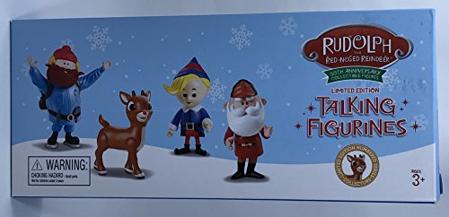 Rudolph the Red Nosed Reindeer 50th Anniversary Limited Edition Collectible - Set of 4 (Collection Figurine Limited Edition)