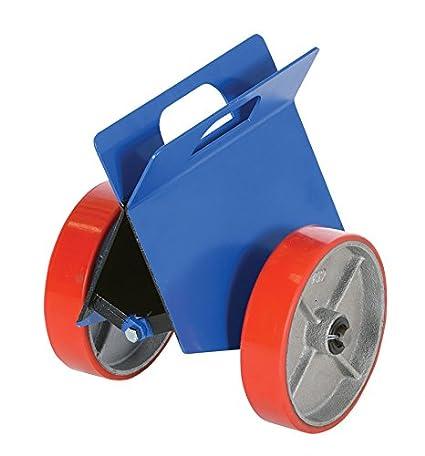 500 lbs Load Capacity 12 Length x 13-5//8 Width 14-1//4 Height Vestil PLDL-HD-4 Steel Plate and Slab Dolly with Foam Wheels