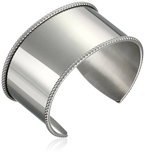 Women's Stainless Steel Raised Edge Cuff (Edge Cuff Bracelet)
