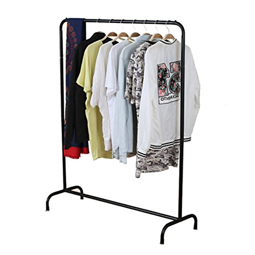 LXLA- Iron Coat Rack Floorstanding Hanger Simple Shelf Bedroom Vertical Organizations Hanger Continental Multifunction Economic Type (Color : Black, Size : Style 1) by LXLA-Coat rack