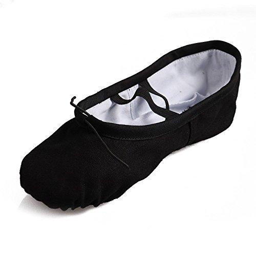 "Tante Tina - Zapatillas de ballet ""Lara"" de lino con - Bailarinas - En varios colores Negro"