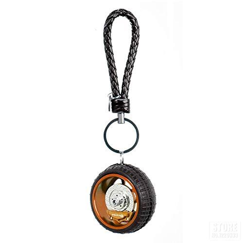 In Box Motorcycle Tyre Keychain Wheel Hub Key Ring Keyring Tire Key Ring Keyfob Motorbike Decoration Auto Car Interior Decoration Gift