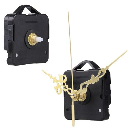 TOOGOO(R) Quartz Clock Movement Mechanism DIY Repair Parts Gold