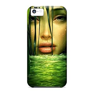 Fashion Tpu Case For Iphone 5c- Green Life Hd Defender Case Cover