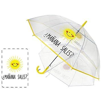 Paraguas automatico transparente Baggy Mañana sales 58cm