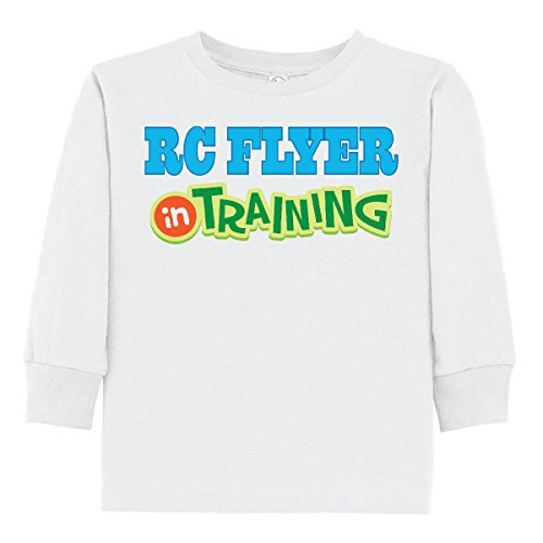 inktastic RC Flyer In Training Toddler Long Sleeve T-Shirt 3T White