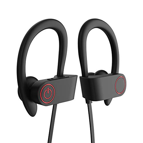 Bluetooth Earbuds, Sockey Ele Wireless Sports Headphones with Mic, HD Stereo and Waterproof Sweatproof for Gym Running, 8 Hrs Play Time, Secure Fit Design
