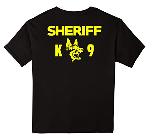 Kids K-9 Sheriff Deputy T-Shirt LEO Off Duty Cops Law Enforcement 12 (Fashion Police Halloween Costume E)