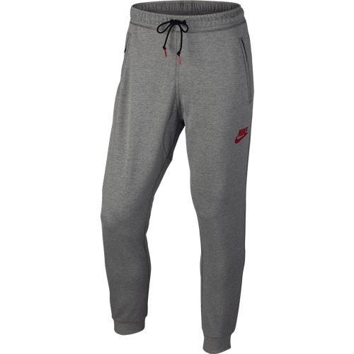 Men's Nike Sportswear AV15 Jogger Pant Dark Grey Heather/University Red Size Medium
